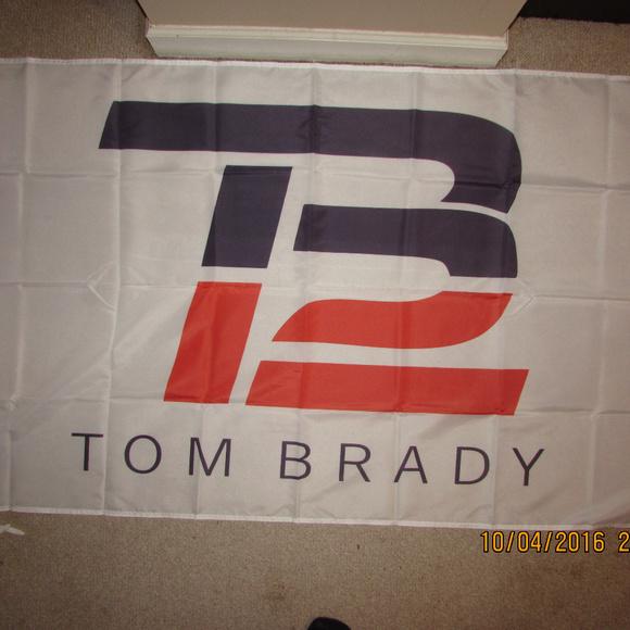 cb9bd9e514d99 TB12 Tom Brady New England Patriots Flag Banner